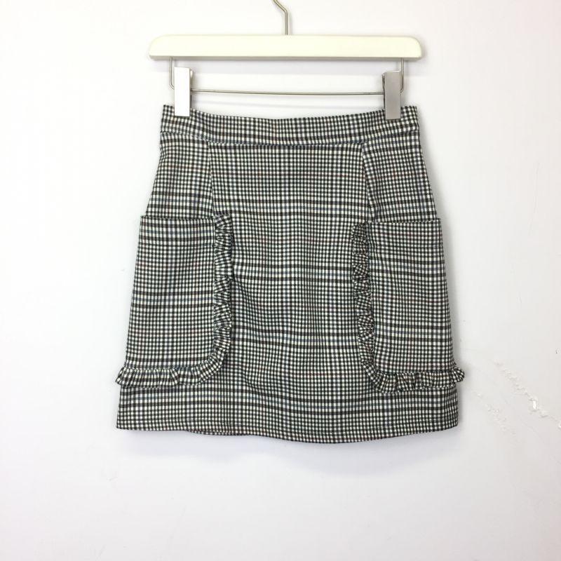 画像1: グレンチェック柄ショートスカート (1)